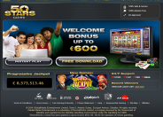 50 Stars Casino Home Page