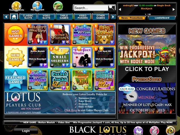 Internetcasinos Black Lotus Casino